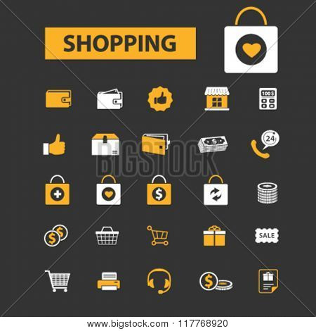 store, shopping, retail, sales icons