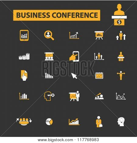 business conference, meeting, community, human resources, management icons