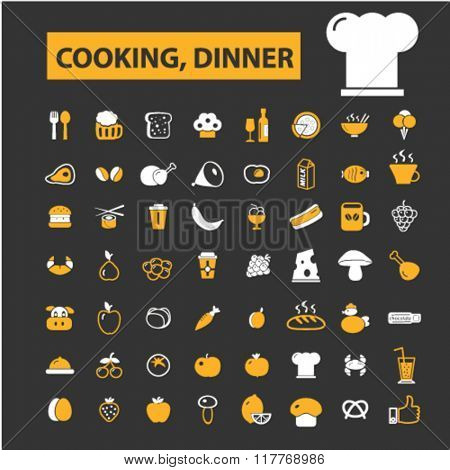 cooking, dinner, restaurant, dining, eating, fast food, restaurant icons