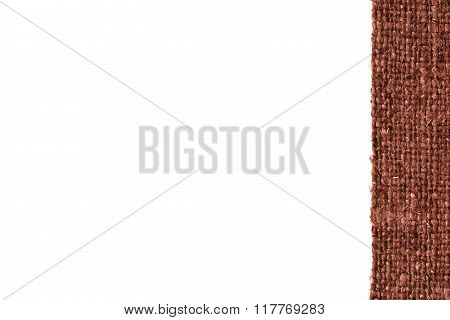 Textile Tarpaulin, Fabric String, Rust Canvas, Stylish Material, Blank Background