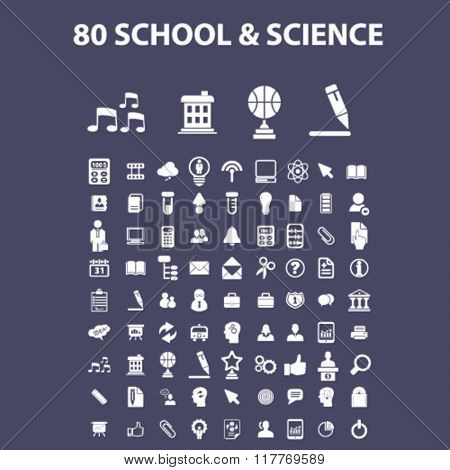 school and science icons