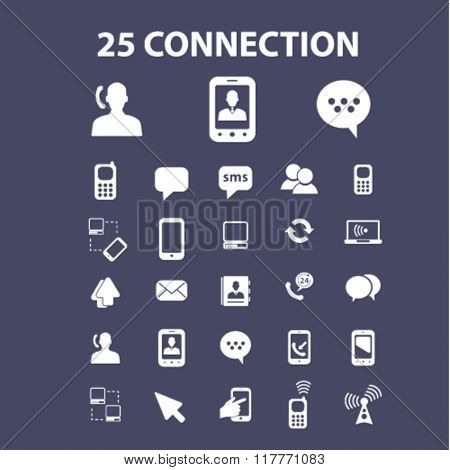 communication, connection, network icons