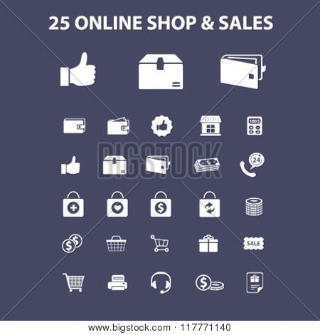 online shop, shopping, retail, cart, sales, store icons