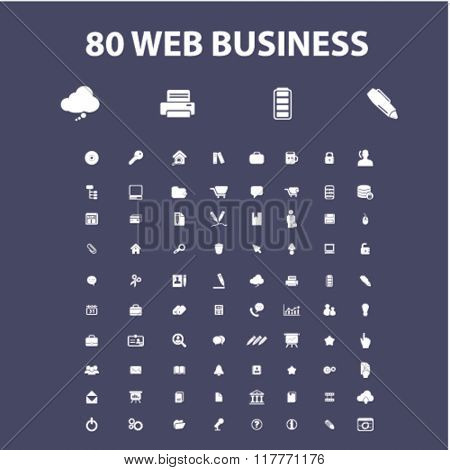 web work, business, home office, supplies, icons