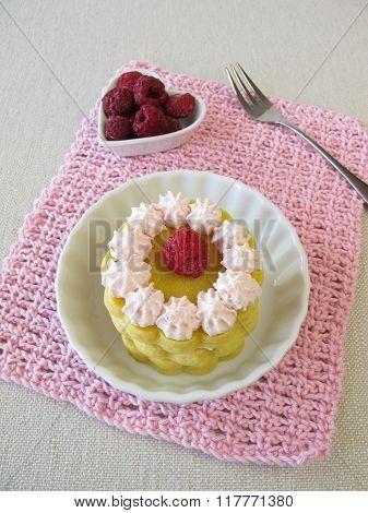 Gluten free raspberry torte