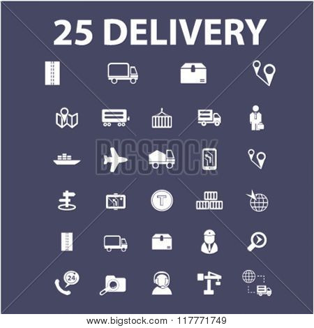 Delivery, shipping, delivery truck, logistics icons, delivery service, logistics concept icons