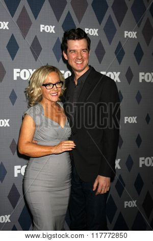 LOS ANGELES - JAN 15:  Rachael Harris, Christian Hebel at the FOX Winter TCA 2016 All-Star Party at the Langham Huntington Hotel on January 15, 2016 in Pasadena, CA