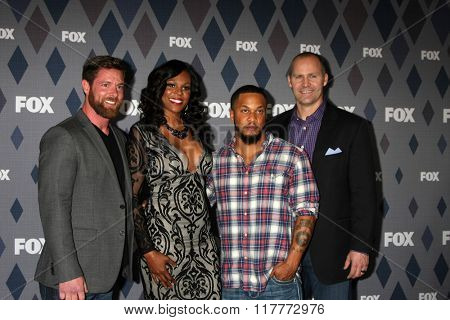 LOS ANGELES - JAN 15:  Noah Galloway, Tee Marie Hanible, Nicholas Irving, Jonathan Littman at the FOX Winter TCA 2016 All-Star Party at the Langham Huntington Hotel on January 15, 2016 in Pasadena, CA