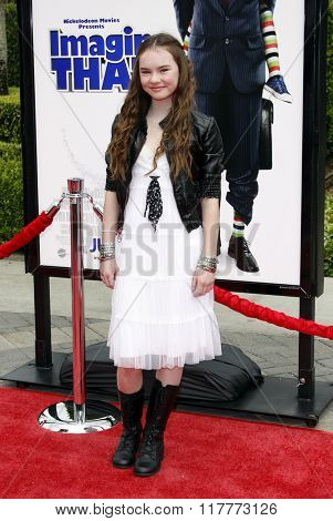 Madeline Carroll at the Los Angeles premiere of