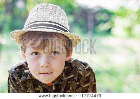 Portrait Of Boy Wearing Hat