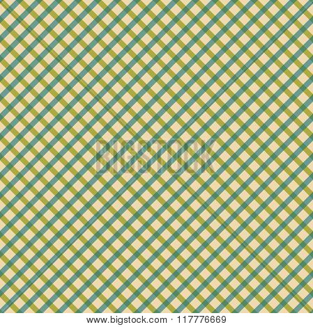 Green seamless pattern, green traditional gingham background.