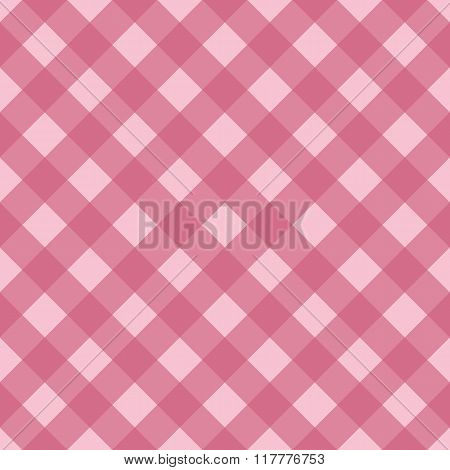Pink seamless pattern, pink traditional gingham background.