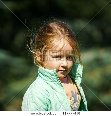 Cute Little Girl Outdoor Portrait
