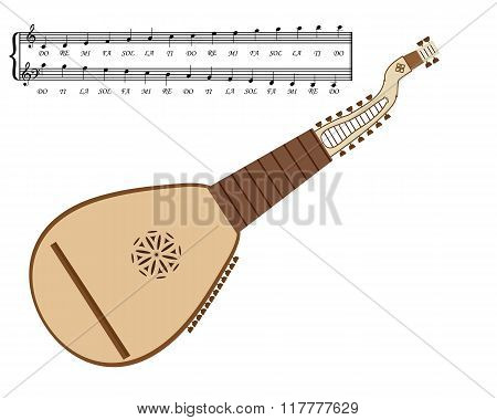 Kobza Ukrainian Musical Instrument