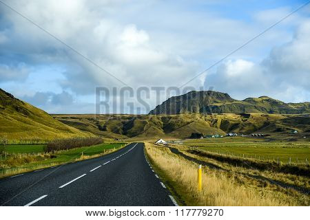 Ring Road In Summer Of Iceland