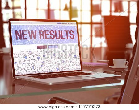 New Results on Laptop in Modern Workplace Background.