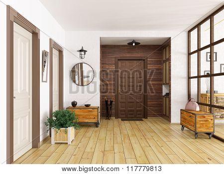 Hall Interior 3D Render