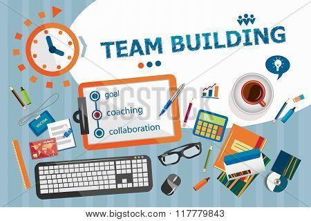 Team Building Design Concept. Typographic Poster.
