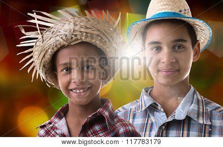 Boys wearing