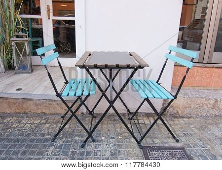 Two Turquoise Chairs