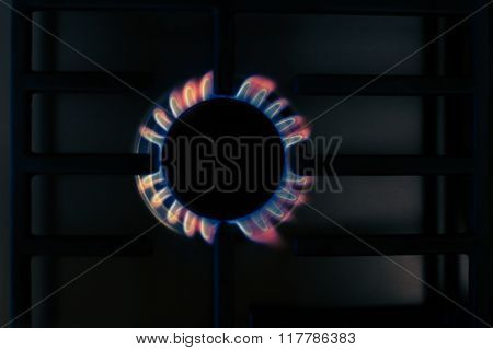Colorful Gas Flame