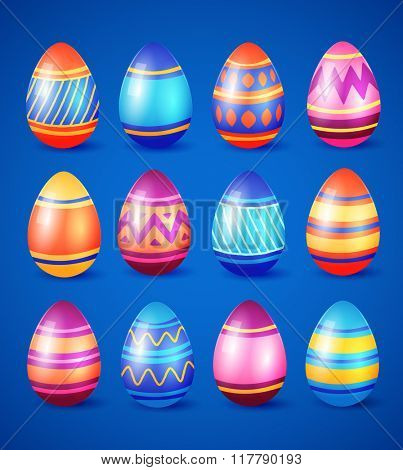 Easter eggs. Vector illustration