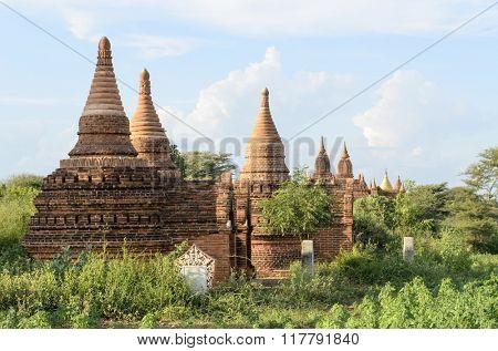 Shwe Sandaw Pagoda in Bagan, Myanmar