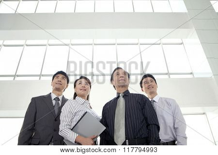 Group of Businesspeople Looking Away