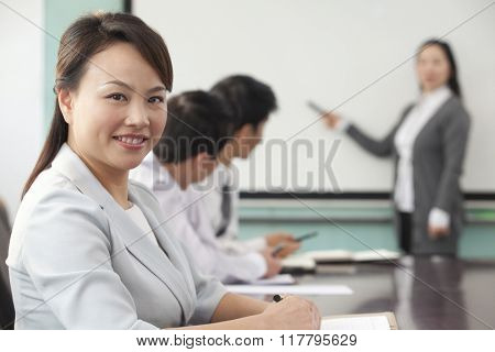 Businesswoman at Presentation