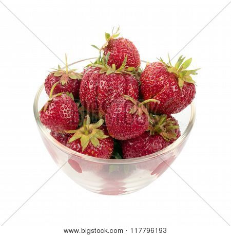 Strawberries In Glass Plate