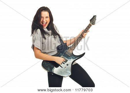 Guitarist Woman Singing