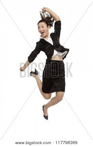 A jumping woman