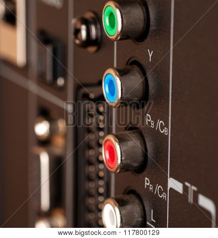 Modern Tv Audio Video Input Panel Controls