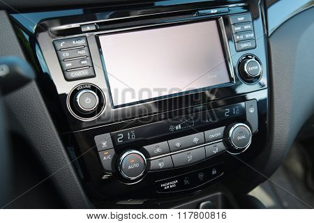 Control Panel  Of  Car
