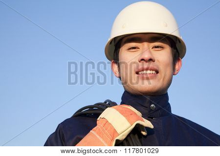 Worker Looking at Camera