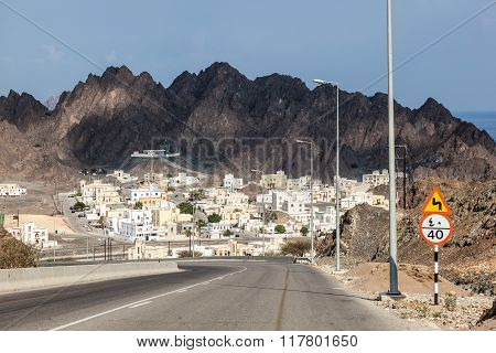 Fishing village Qantab in Muscat Sultanate of Oman Middle East