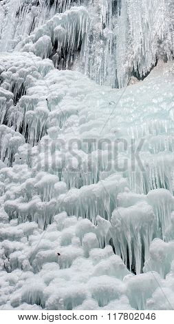 Icefall - frozen waterfall