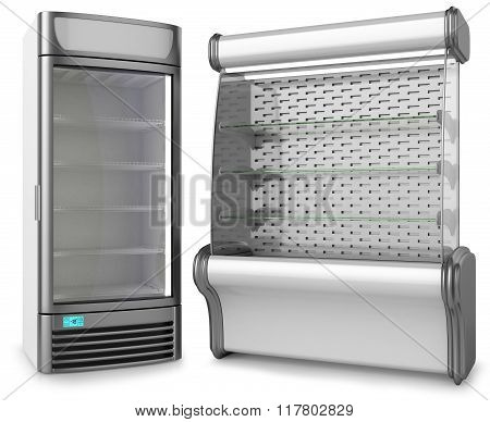 Two Vertical Freezer Refrigeration Showcase