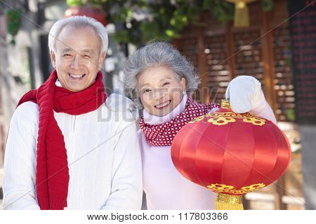 Senior couple Celebrates Chinese New Year