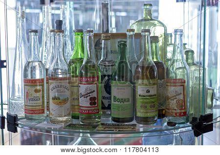 Bottles Of The Old Soviet Vodka