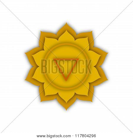 the image of the fourth chakra, Vector Illustration