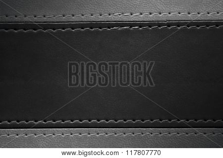 Black And Grey Leather Texture