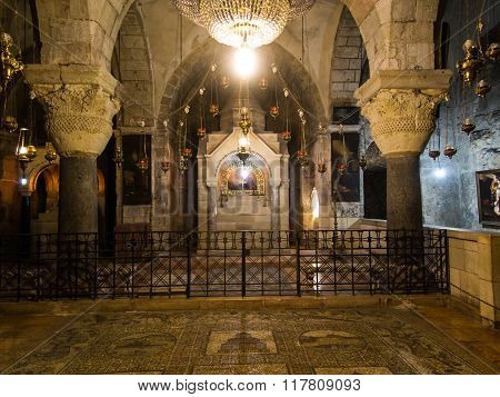 .jerusalem, Israel - July 15, 2015: One Of The Chapels Within The Basilica Of The Holy Sepulchre In