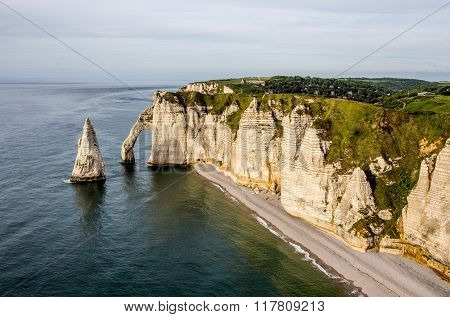 Falaise d'Amont cliff at Etretat, Normandy, France
