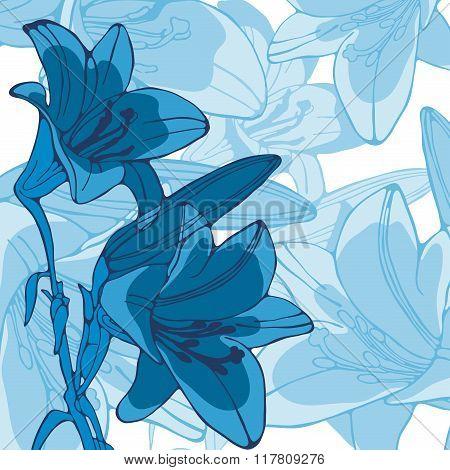 Elegant illustration of lilly flowers