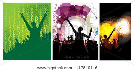 New year party, poster, vector