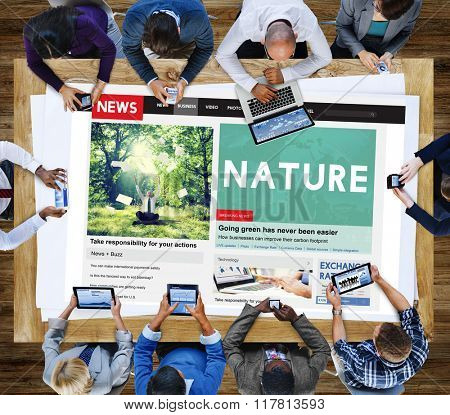 Nature Environmental Conservation Organic Concept