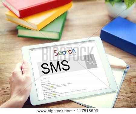 SMS Short Message Services Communication Contact Concept