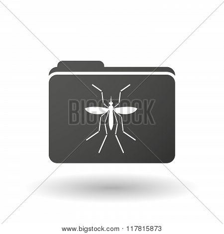 Zika Virus Bearer Mosquito  In A Folder Icon