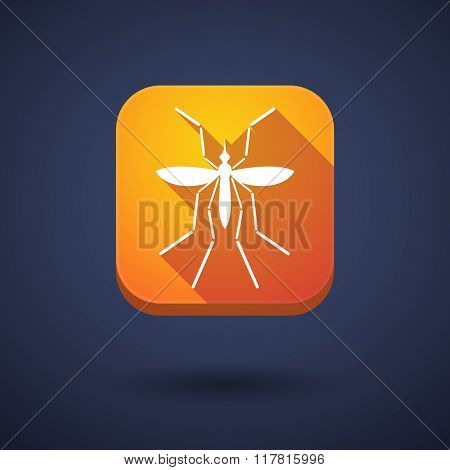 Zika Virus Bearer Mosquito  In A Square Icon